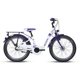 s'cool chiX alloy 20 3-S Kinderen, white/violett